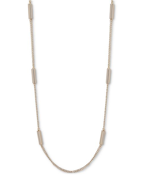 """DKNY Gold-Tone Bar Strand 42"""" Necklace, Created for Macy's"""