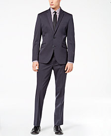 Kenneth Cole Reaction Men's Techni-Cole Gunmetal Solid Slim-Fit Suit