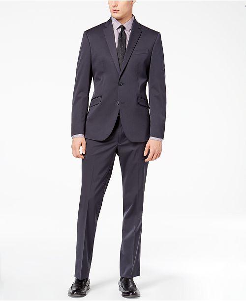 ... Kenneth Cole Reaction Men s Techni-Cole Gunmetal Solid Slim-Fit Suit ... e37427a7e