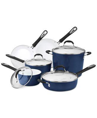 Cuisinart Elements 10-Pc. Blue Cookware Set