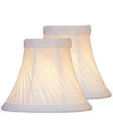 Lite Source Set of 2 Clip-on Swirl Pleat Chandelier Shade