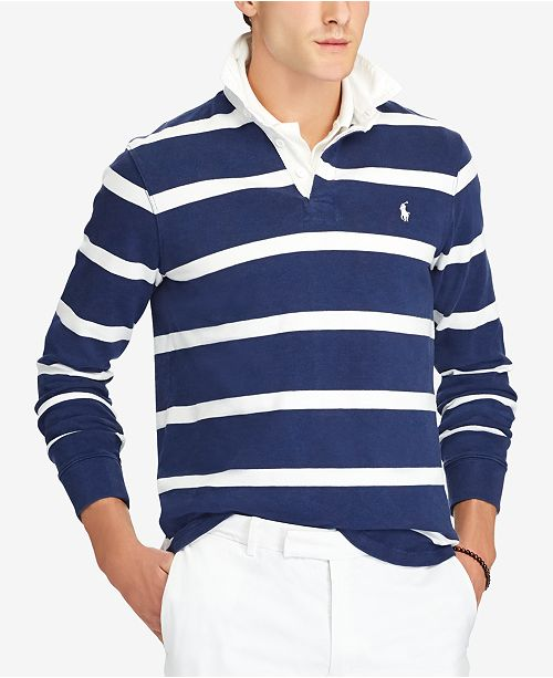 a7fad76a Polo Ralph Lauren Men's Iconic Striped Rugby Polo Shirt & Reviews ...