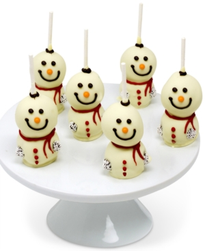 Chocolate Covered Company Chocolate-Dipped Snowman Cake Pops