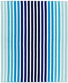 "Monaco Cotton Yarn-Dyed Stripe Jacquard 60""x 70"" Beach Blanket"