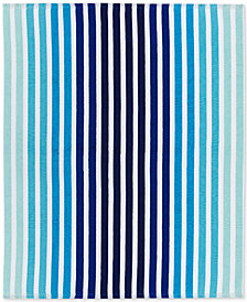"Lacoste Monaco Cotton Yarn-Dyed Stripe Jacquard 60""x 70"" Beach Blanket"