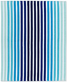 "CLOSEOUT! Lacoste Monaco Cotton Yarn-Dyed Stripe Jacquard 60""x 70"" Beach Blanket"