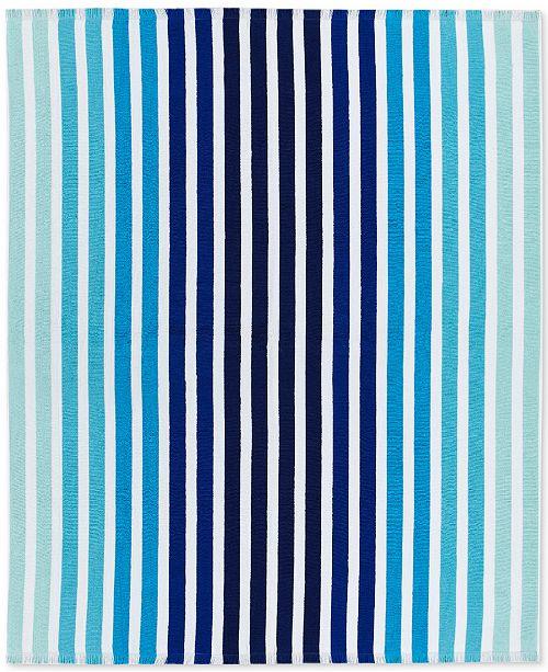"Lacoste  Monaco Cotton Yarn-Dyed Stripe Jacquard 60""x 70"" Beach Blanket"
