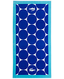 "Lacoste Riviera Cotton Geo-Print 36"" x 72"" Beach Towel"