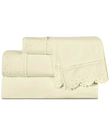Piper & Wright Eyelet 4-Pc. King Sheet Set