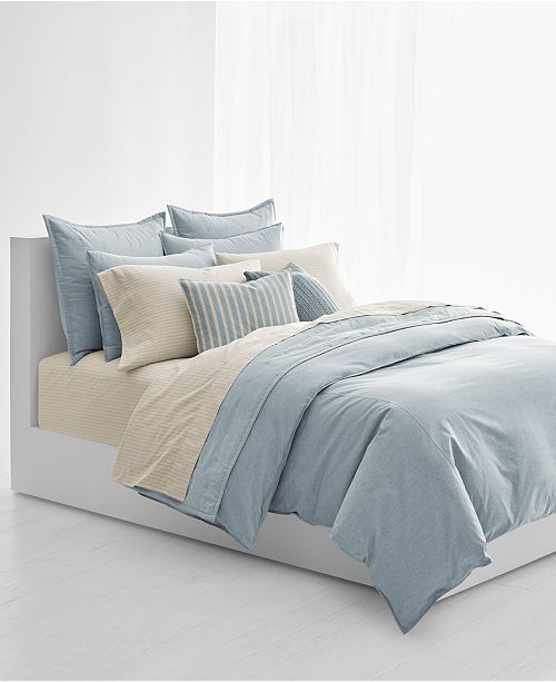 lauren ralph lauren graydon cotton melange king duvet cover duvet