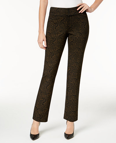 Charter Club Metallic Ponté-Knit Pants, Created for Macy's