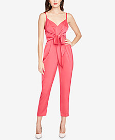 RACHEL Rachel Roy Glare Tie-Front Jumpsuit, Created for Macy's