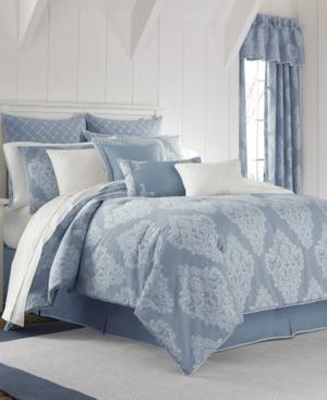 Piper  Wright Ansonia Indigo 4Pc King Comforter Set Bedding