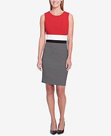 Tommy Hilfiger Colorblocked Sheath Dress