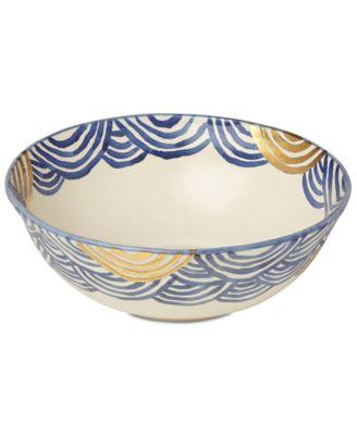 Lenox-Wainwright Pompeii Blu Sea Large Serving Bowl, Created for Macy's