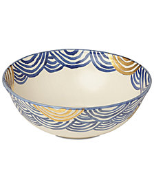 Lenox-Wainwright Pompeii Blu Sea Large Serving Bowl, Created for Macy's