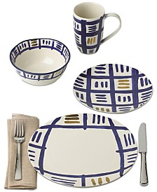 Lenox-Wainwright Pompeii Blu Sky Dinnerware Collection,Created for Macy's