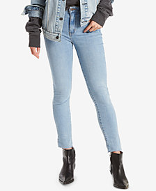 Levi's® 721 High-Rise Raw Hem Ankle Skinny Jeans