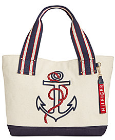 Tommy Hilfiger Classic Tommy Anchor Embroidered Tote