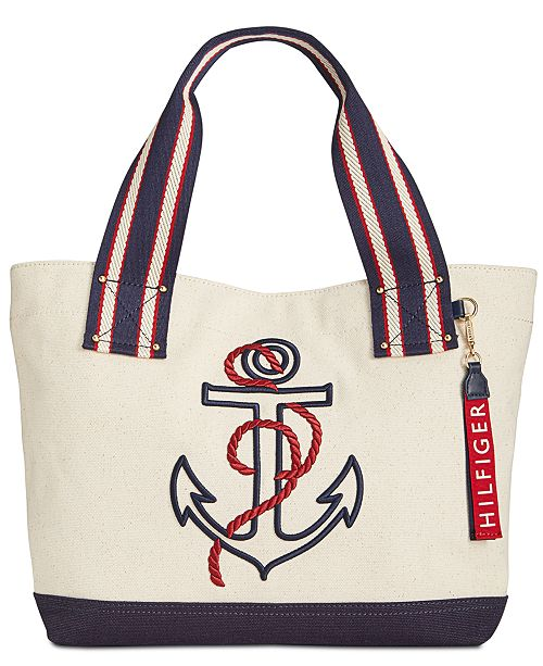 03f935066af Tommy Hilfiger Classic Tommy Anchor Embroidered Tote & Reviews ...