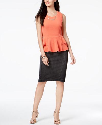 Thalia Sodi Peplum Top & Pencil Skirt, Created for Macy's