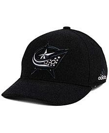 adidas Columbus Blue Jackets Black Tonal 873 Flex Cap