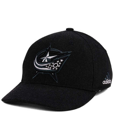 adidas Columbus Blue Jackets Black Tonal 873 Flex Cap