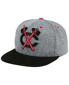 Mitchell & Ness Chicago Blackhawks Heather Snapback Cap