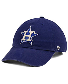outlet store 63a7f 396d3  47 Brand Houston Astros Timber Blue CLEAN UP Cap