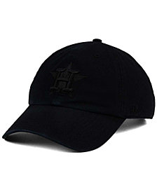 '47 Brand Houston Astros Black on Black CLEAN UP Cap