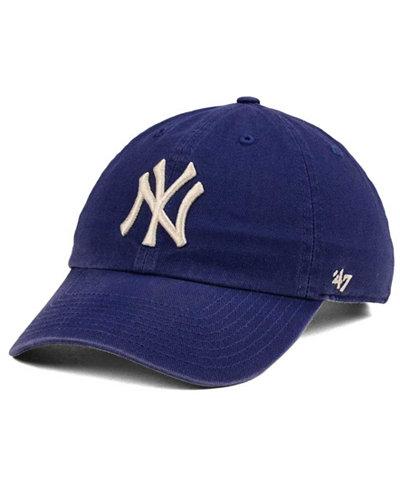 '47 Brand New York Yankees Timber Blue CLEAN UP Cap