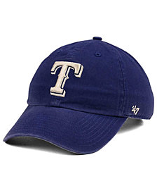 '47 Brand Texas Rangers Timber Blue CLEAN UP Cap