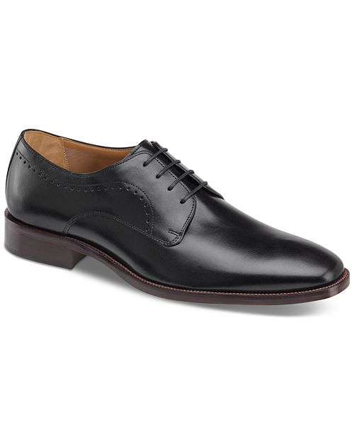 Johnston & Murphy Men's Sanborn Plain-Toe Lace-Up Oxfords