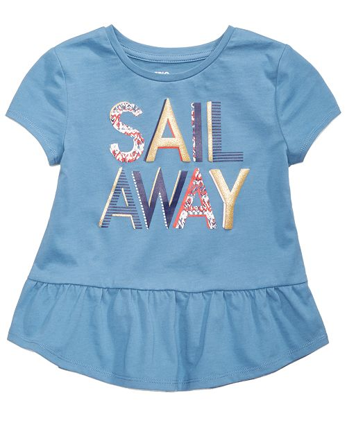 Epic Threads Sail Away T-Shirt, Little Girls, Created for Macy's