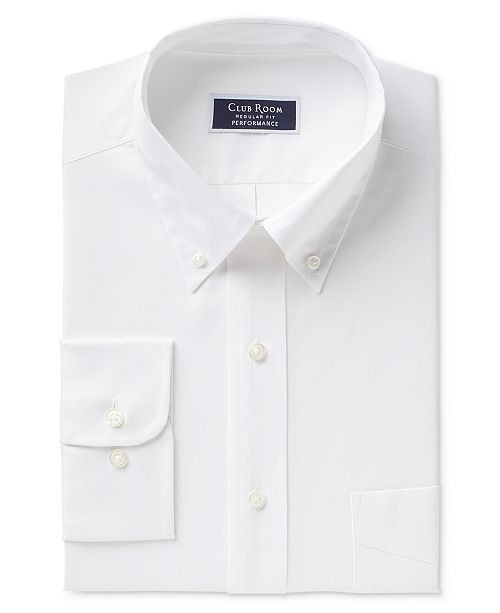 f4665c96d6f ... Club Room Men's Classic/Regular Fit Performance Wrinkle Resistant White  Pinpoint Solid Dress Shirt, ...