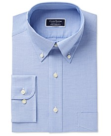 Men's Big & Tall Classic/Regular-Fit Performance Stretch Wrinkle-Resistant Pinpoint Dress Shirt, Created for Macy's