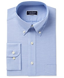 Club Room Men's Big & Tall Classic/Regular Fit Oxford Dress Shirt, Created for Macy's