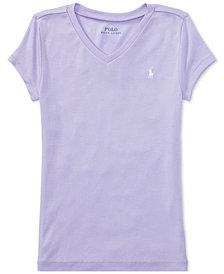 Ralph Lauren V-Neck T-Shirt, Big Girls