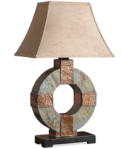 Uttermost Round Slate Table Lamp