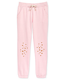 Epic Threads Heart-Print Jogger Pants, Big Girls, Created for Macy's