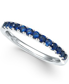 Certified Sapphire Band (1/2 ct. t.w.) in 14k White Gold (Also Available in Emerald, Ruby & White Sapphire)