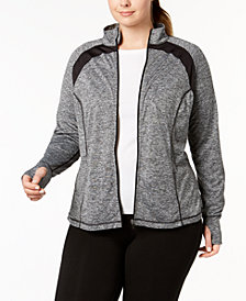 Ideology Plus Size Rapidry Performance Zip Jacket, Created for Macy's