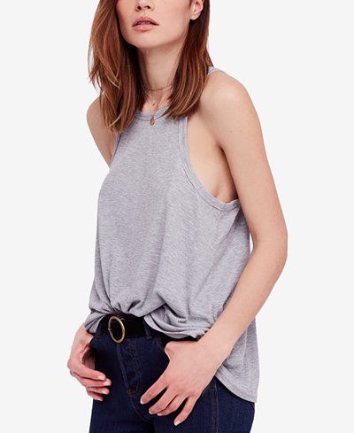 Free People Long Beach Ribbed Tank Top