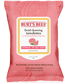 Burt's Bees Facial Cleansing Towelettes - Pink Grapefruit, 30 count