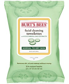 Facial Cleansing Towelettes, Cucumber and Sage, 30 Count