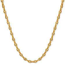 "22"" Italian Gold Anchor Link Chain (4-1/2mm) in Solid 10k Gold"