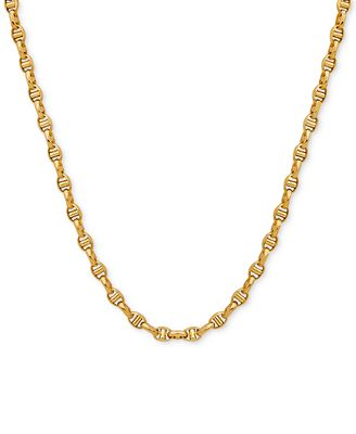 "22"" Italian Gold Anchor Link Chain in 10k Gold Necklaces"