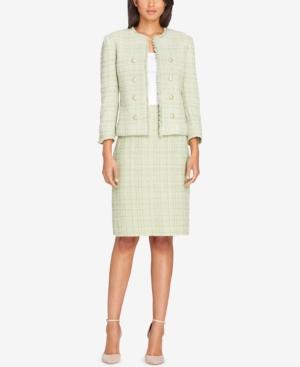 Tahari Asl Tweed Button-Embellished...