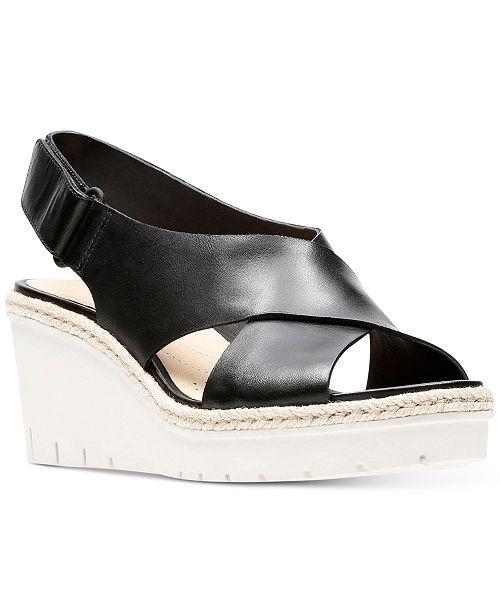 54027eadc70 Clarks Women s Palm Glow Wedge Sandals   Reviews - Sandals ...