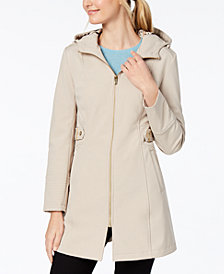 Via Spiga Side-Tab Hooded Raincoat